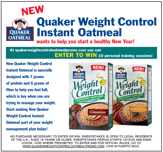 Project: Email - Quaker Oatmeal