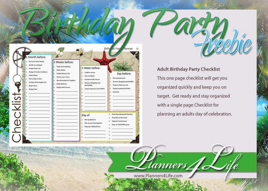 Project: Social - Facebook - Birthday Party Freebie