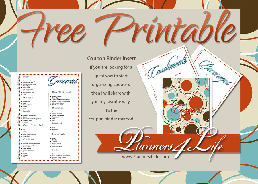 Project: Social - Facebook - Coupon Binder Insert retro