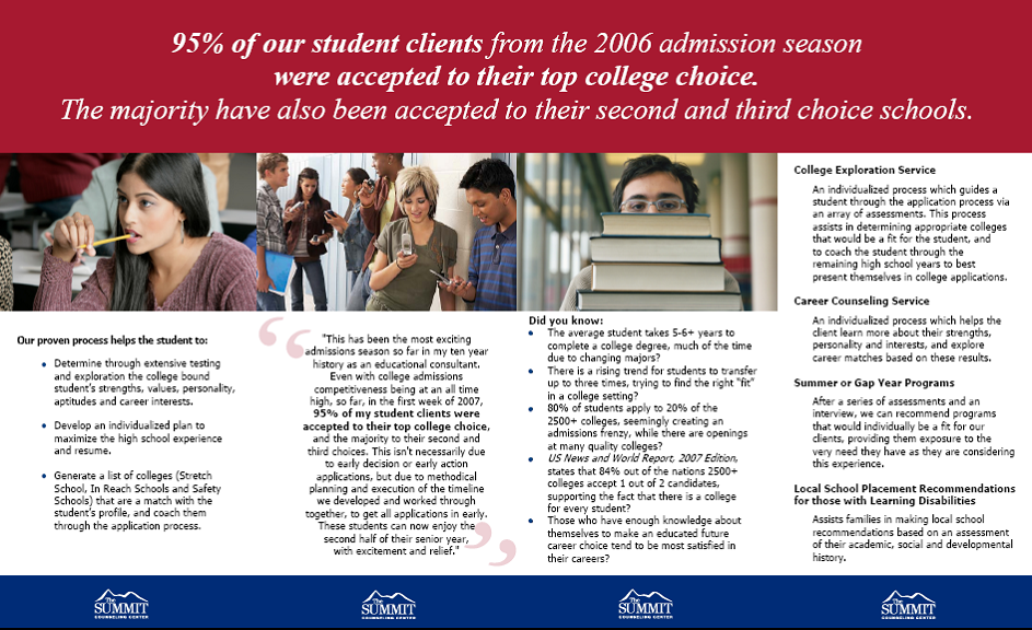 Project: Brochure - Summit College Counseling