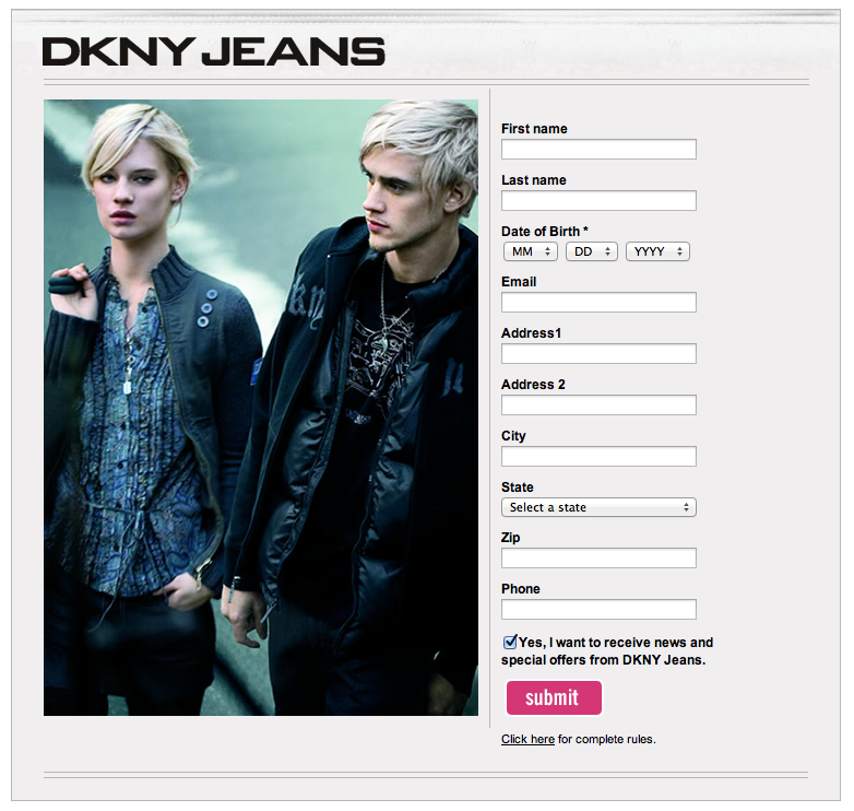 Project: Landing Pages - DNKY Jeans 2
