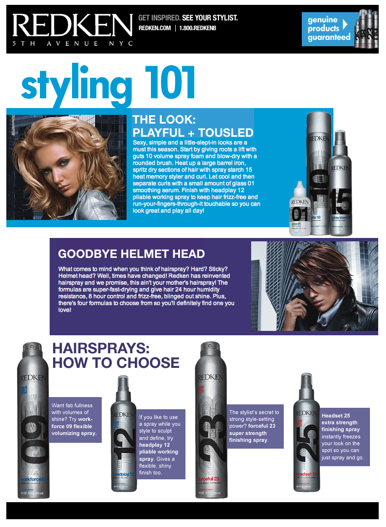 Project: Landing Pages - Redken 101-1
