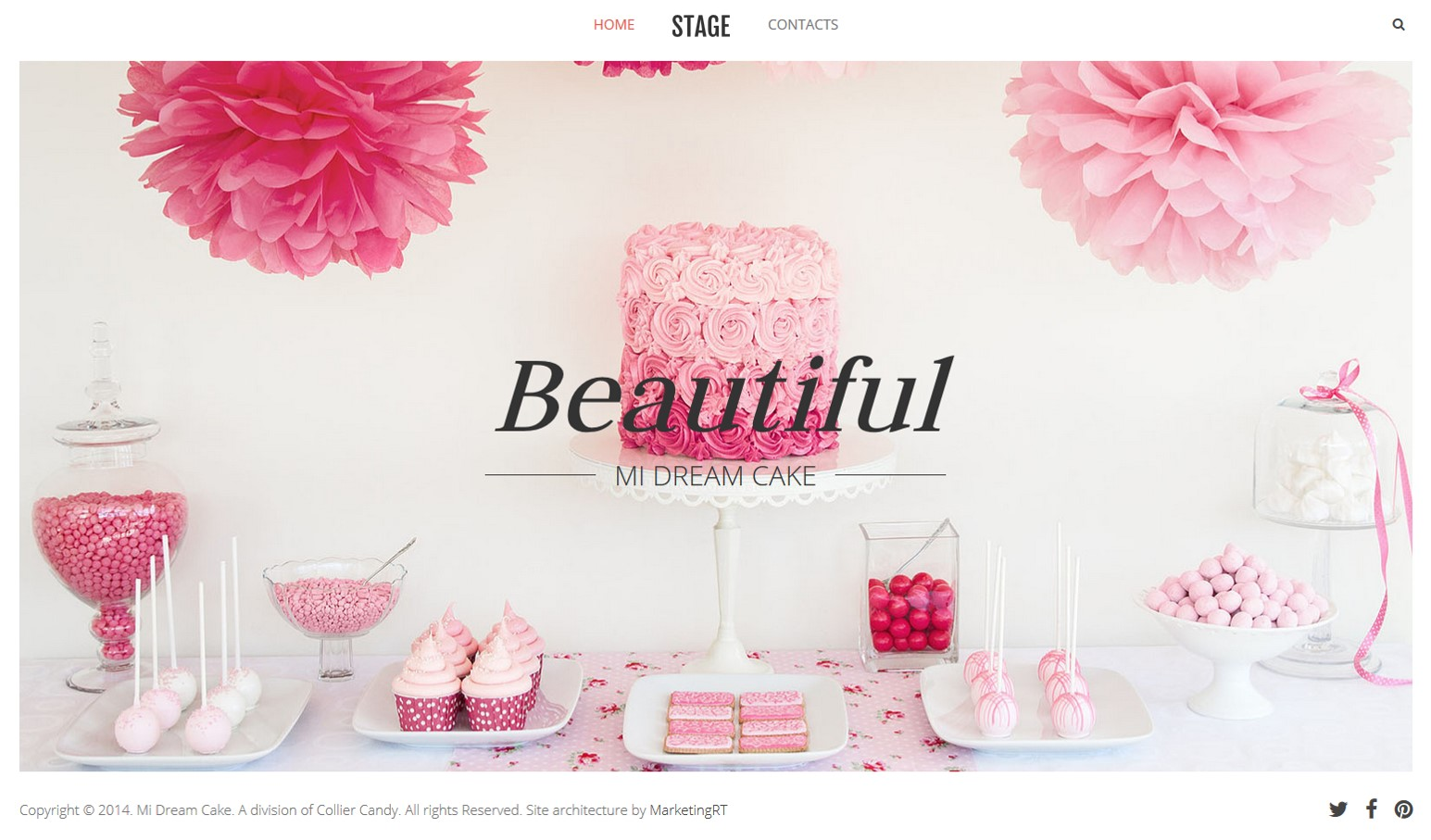 Project: Website - Mi Dream Cakes